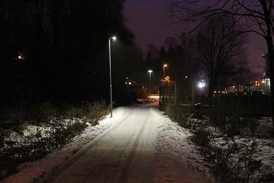 Rosendalsgatan gångväg LED